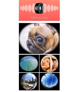Clip on monterad lins till telefonen - Fish Eye